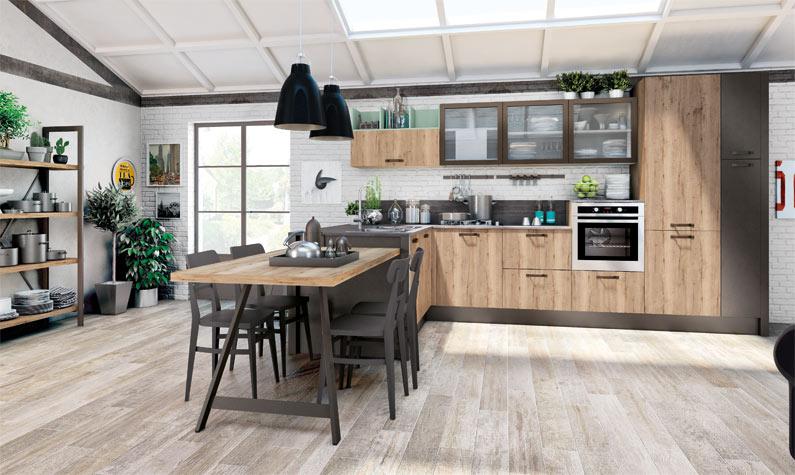 cucina moderna - creo nita - standard - Listino Prezzi Cucine Lube
