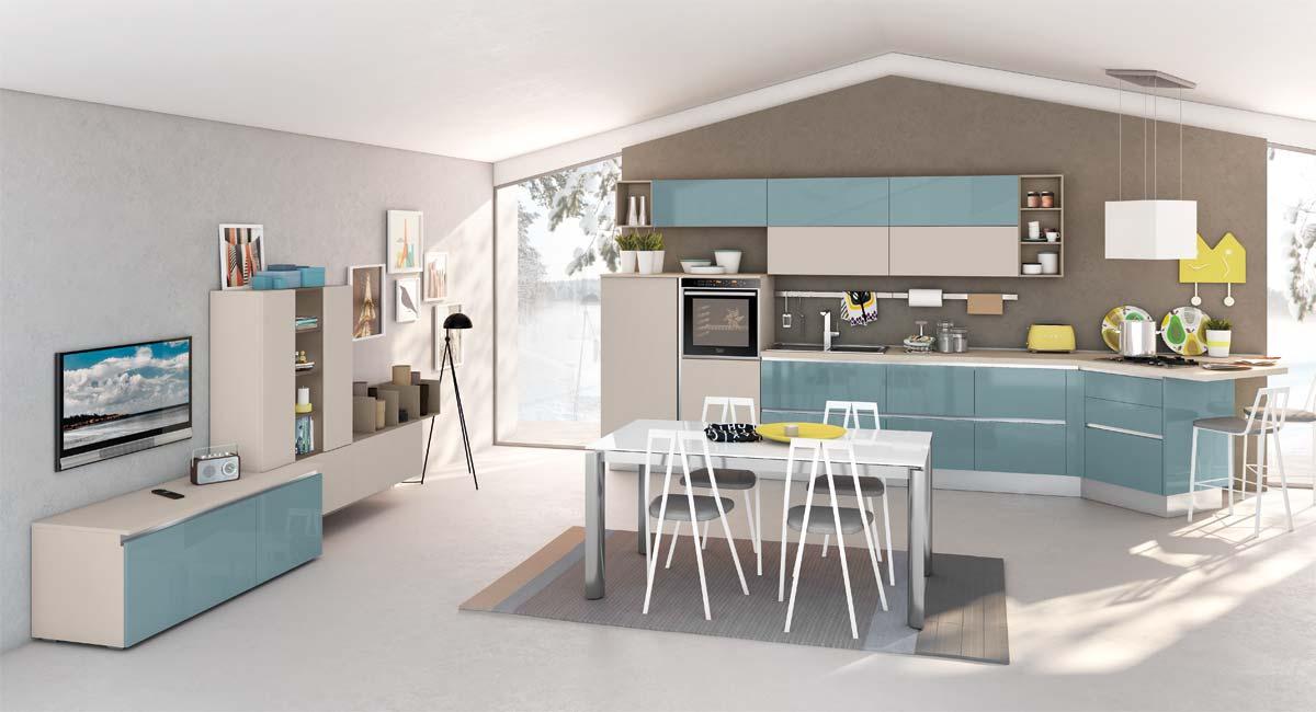 Cucina open space 3 cucinarredi