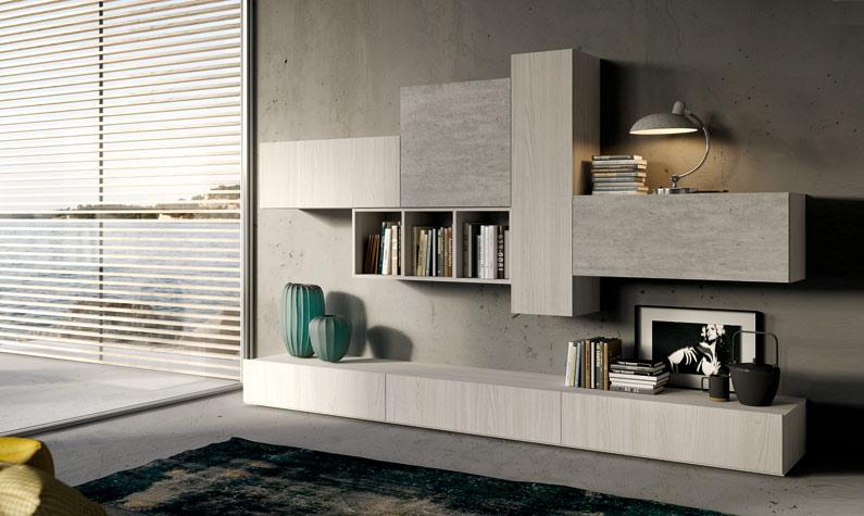 Soggiorno moderno time start comp 002 for Foto living moderni